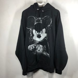 Disneyland Resort black graffiti Mickey sweatshirt
